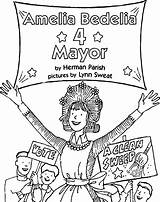 Amelia Coloring Bedelia Mayor Wecoloringpage Pages Character sketch template