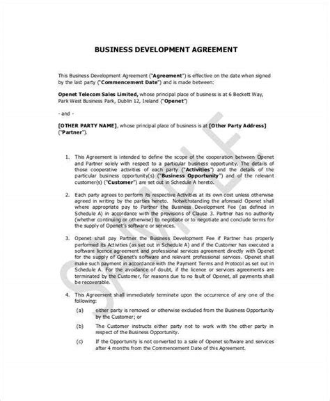 small business contract templates docs word pages