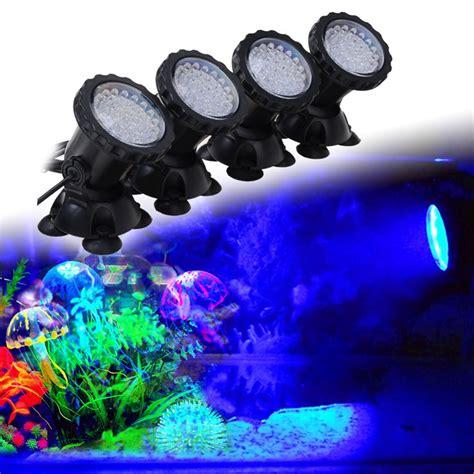 fabriquer re led aquarium aquarium led lighting 1 set 4 lights rgb 36 leds 6w fish tank underwater spot light with 24 key