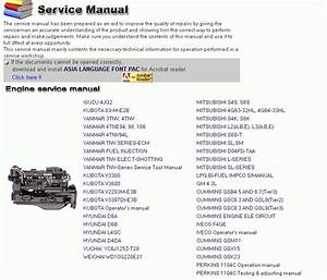 Hyundai Engine Construction Equipment Service Manual 2012 Download