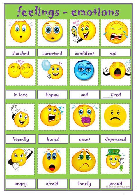 Feeling Emotions Worksheet  Free Esl Printable Worksheets Made By Teachers