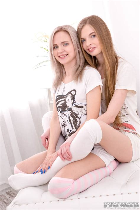 Teen Girls Herda Wisky And Adel Bye Have A 3some Wearing Over The Knee Socks