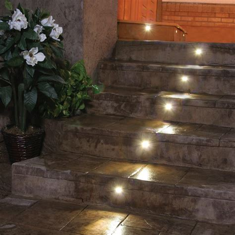 recessed led outdoor step lights outdoor led recessed stair light kit 8 pack dekor lighting