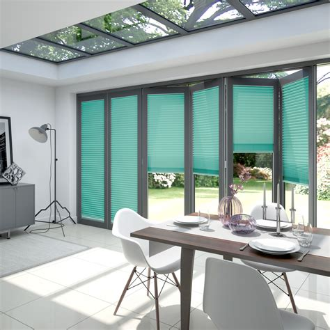 Blinds 2 Go by Clickfit Pleated Blinds For Bifold Doors Blinds 2go