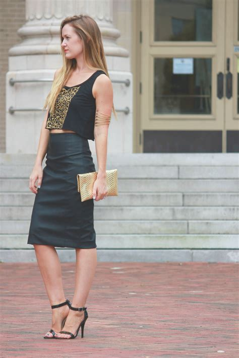 Leather Skirt Going Out Outfit | Fashion Skirts