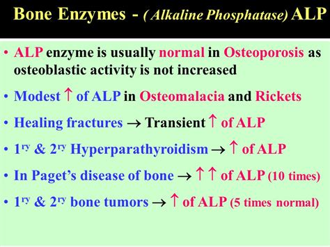 objectives list the clinically important enzymes and