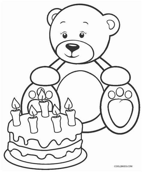 printable teddy bear coloring pages  kids coolbkids