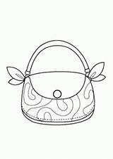 Coloring Printable Bag Pretty sketch template