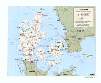 Ģeogrāfiskā karte - Dānija - 1,406 x 1,154 Pikselis - 194 ...