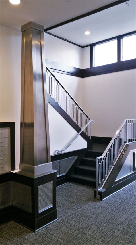 stainless steel architectural accents  art deco railing great lakes metal fabrication