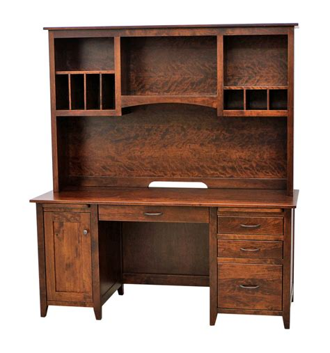 Desk With Hutch by Manhattan Flat Wall Desk With Hutch Top Craft