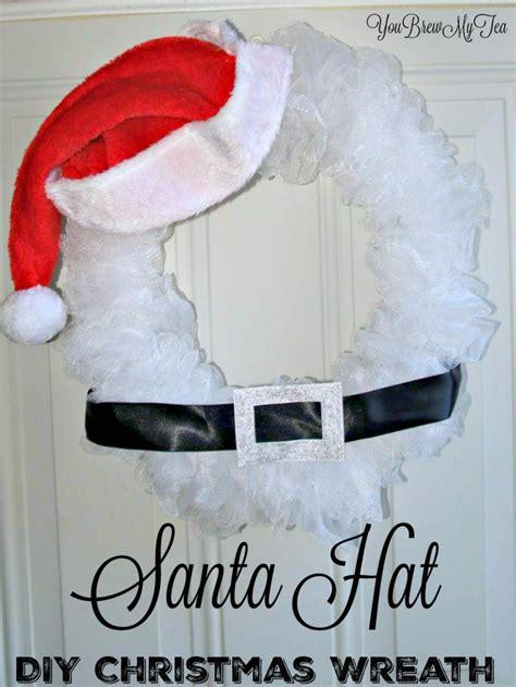 santa claus diy christmas wreaths