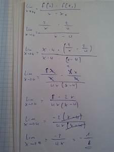Lokale änderungsrate Berechnen : differentialquotient berechnen sie die steigung von f f x 2 x an der stelle xo 4 mithilfe ~ Themetempest.com Abrechnung
