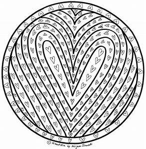Witziges Herzchen Mandala Zum Ausdrucken MandalaMalspiel