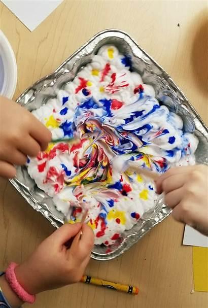 Project Children Hands Then Everyone Kindergarten Handed