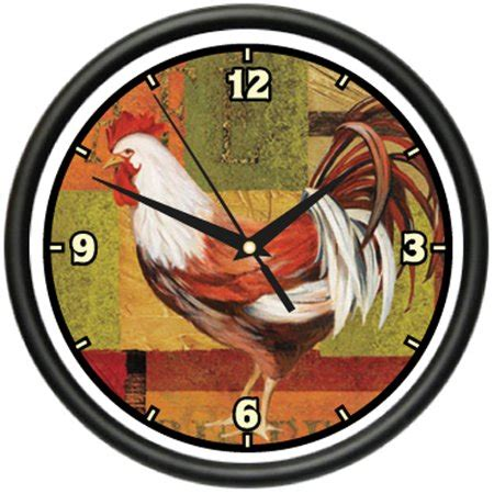 walmart kitchen clocks rooster 1 wall clock farmer kitchen home decor