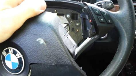 bmw steering wheel airbag  steering wheel removal step