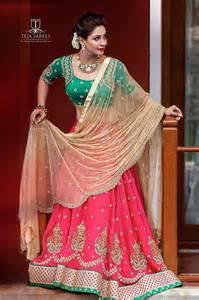 indian wedding planners half saree lehengas and half sarees