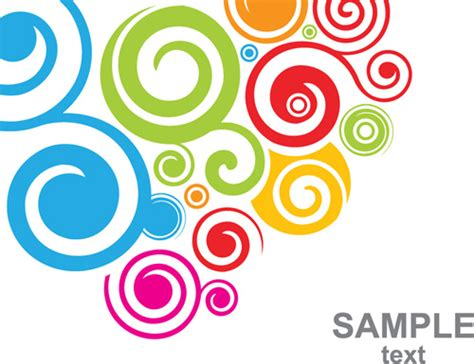 svg background color set of colored swirl vector backgrounds free vector in
