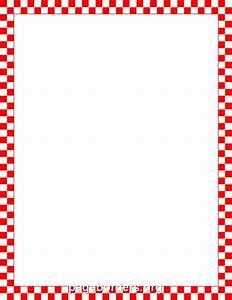 Red and White Checkered Border | 1950's Diner decor ...