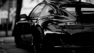Full HD Wallpaper porsche black and white sport car