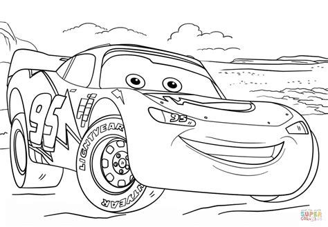 lightning mcqueen  cars  coloring page