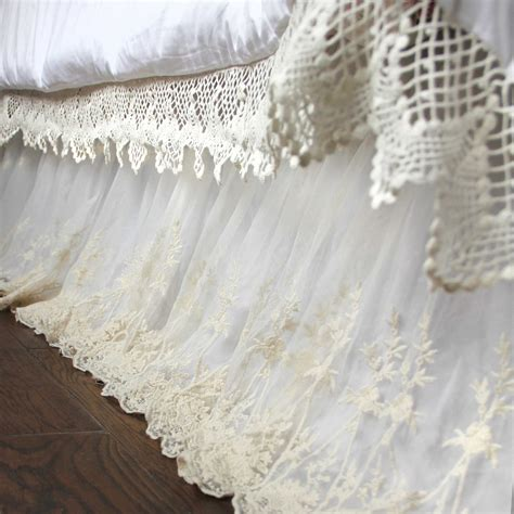 shabby chic bedskirt lace bed skirt