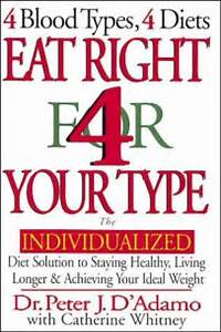 Book Review: Eat Right 4 Your Type (4 Blood Types 4 Diets) – Dr ... Eat Right 4 Your Type