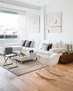 deco salon 1 interieurs scandinaves avec meuble With tapis en rotin