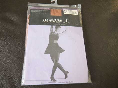 Toast Ultra Shimmery Danskin Footed Dance Tights
