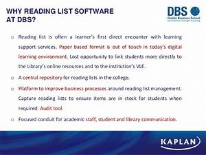 The reading list challenge : implementing Loughborough ...