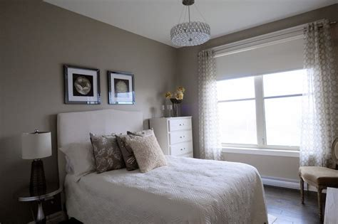 monochromatic guest room contemporary bedroom