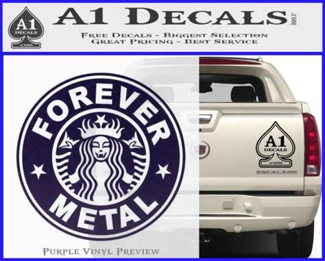 metal decal sticker starbucks  decals