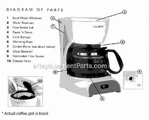 Mr  Coffee Drx5 Parts List And Diagram   Ereplacementparts Com