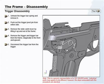 Trigger Sig Sauer P226 P229 Animation Disassembly