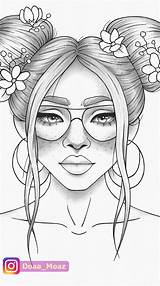 Drawings Drawing Colouring Coloring Printable Adult Portrait Outline Sketches Pdf Coloriage Relaxing Sketchbook Sheet Colorir Zentangle Floral Dessin Draw Pencil sketch template