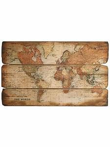 Weltkarte Bild Holz : wanddeko online kaufen im wohnen shop heine ~ Lateststills.com Haus und Dekorationen