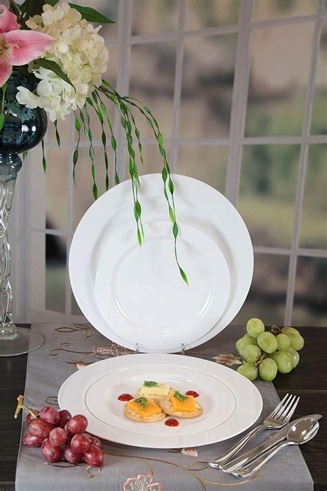 plates disposable plastic fancy amazon heavyweight premium quality