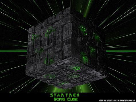 star trek borg cube  star trek computer desktop wallpaper