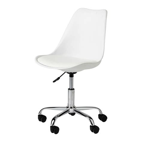 chaise à roulettes chaise de bureau à roulettes blanche bristol maisons du