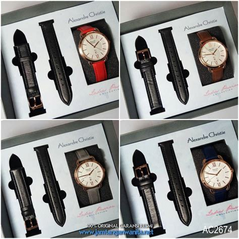 jam tangan alexandre christie ac extra tali kulit original