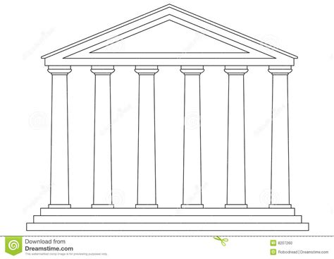 tempel vektor vektor abbildung illustration von