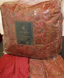 ralph lauren abenhall paisley cal king comforter set new