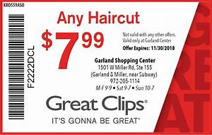 Great Clips Haircut 7 99 CouponGreatclips Printable