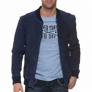 Veste En Daim Homme : casual friday veste en daim bleue navy homme blz ~ Nature-et-papiers.com Idées de Décoration