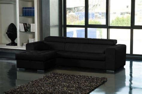 canapé lit simili cuir canape d 39 angle gauche samuel convertible lit gigogne en