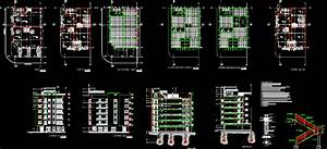 5 Storey Building In Autocad