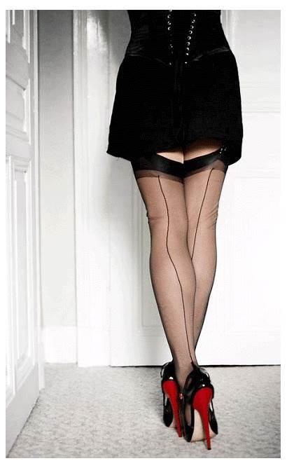 Heels Stockings Nylon Inch Nylons Legs Gifs