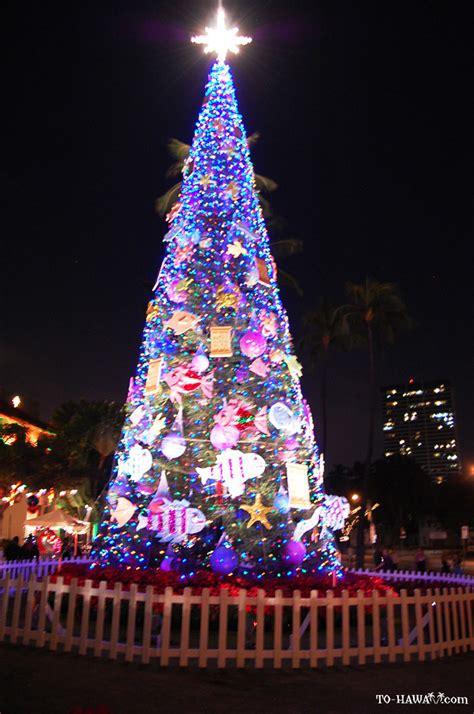 christmas lights at honolulu hale 2012