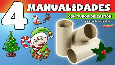 manualidades de reciclaje con tubos de papel higienico manualidades para navidad con reciclaje y